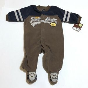 Carters Baby Football Sports Footed Romper NWT